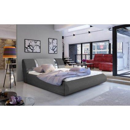 Čalouněná postel s úložným prostorem Flavio - Paros 06/05