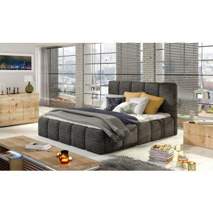 Čalouněná postel s úložným prostorem Edvige - Berlin 02