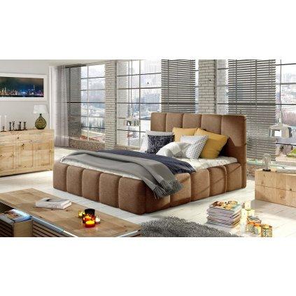 Čalouněná postel s úložným prostorem Edvige - Dora 26