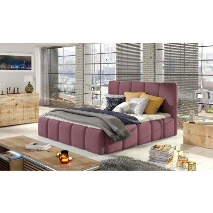 Čalouněná postel s úložným prostorem Edvige - MatVelvet 63