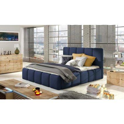 Čalouněná postel s úložným prostorem Edvige - Ontario 81