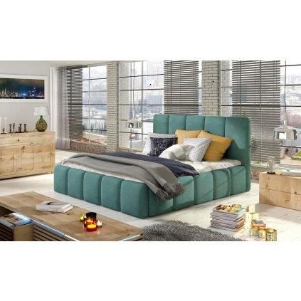 Čalouněná postel s úložným prostorem Edvige - Orinoco 85