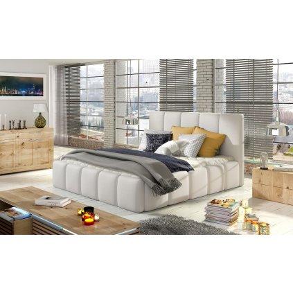Čalouněná postel s úložným prostorem Edvige - Soft 17