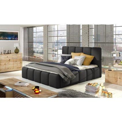 Čalouněná postel s úložným prostorem Edvige - Soft 11