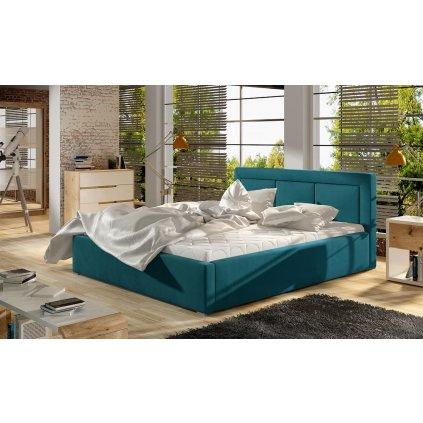 Čalouněná postel Belluno - MatVelvet 75