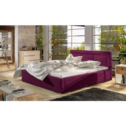 Čalouněná postel Belluno - MatVelvet 68