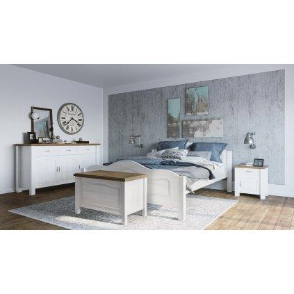 Manželská postel Merlin 2