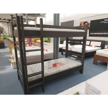 Buková patrová postel Lucas - výprodej
