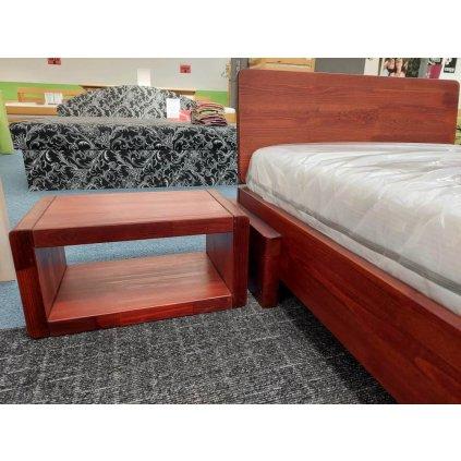 Noční stolek z masivu borovice Boverio Teak - výprodej
