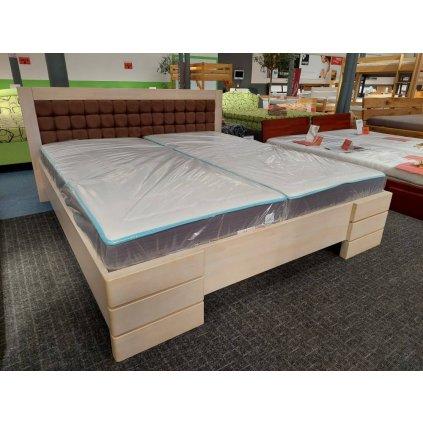 Zvýšená postel z masivu borovice Gotland 180x200 - výprodej