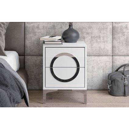 bílý moderní noční stolek Eva 1