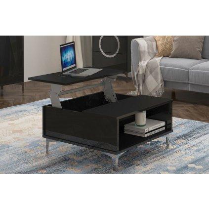 černý konferenční stolek Eva 2