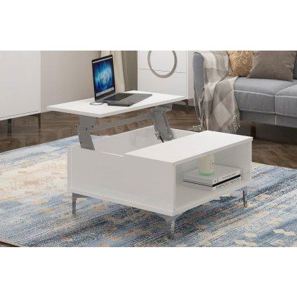 bílý konferenční stolek Eva 1