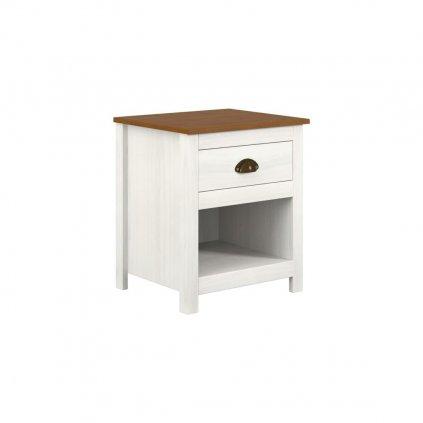 Noční stolek Topaz - masiv borovice
