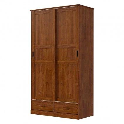Skříň s posuvnými dveřmi Onix 2D2S-H - masiv borovice