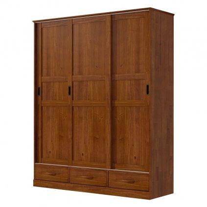 Skříň s posuvnými dveřmi Onix 3D3S-H - masiv borovice