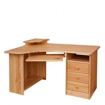 Psací stůl 132 - masiv borovice - LEVÝ