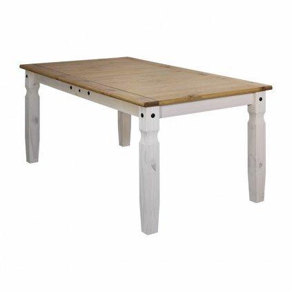 Bílý jídelní stůl Cora 178x92 - masiv borovice