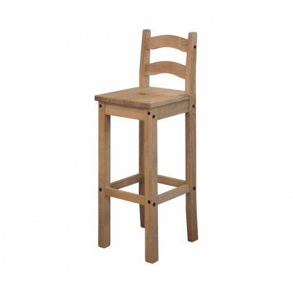 Barová židle Cora - masiv borovice