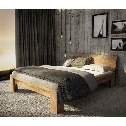 Dubová manželská postel Montana Sonoma
