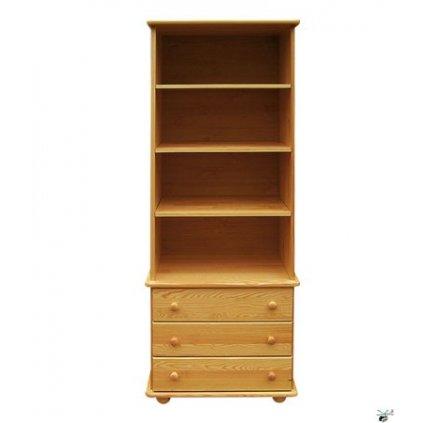 Regál 49 - masiv borovice (Moření skříně Moření skříně / borovice)