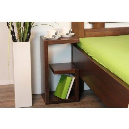 Bukový noční stolek - SUPRA (Moření HP Antracit)