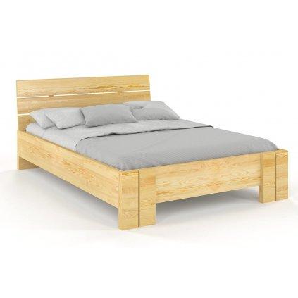 Zvýšená postel z masivu Arhus 200x220 - high long (Laťkový rošt Laťkový rošt / 100x220 cm 2 ks - 15 lamel ZDARMA, Moření vis. Moření vis. / Bílá)