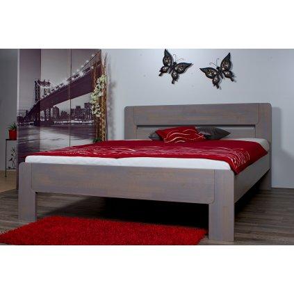 Buková zvýšená manželská postel ROMA