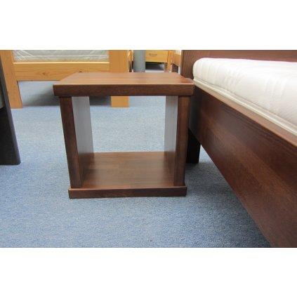 Noční stolek KAREL - masiv buk (Moření HP Antracit)