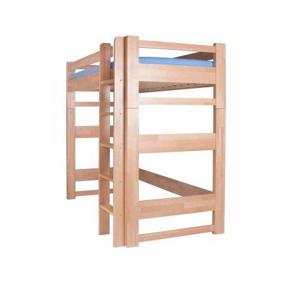 Patrová postel Lucas horní spaní - buk (Rozměr 90x200, Moření HP Buk přírodní)