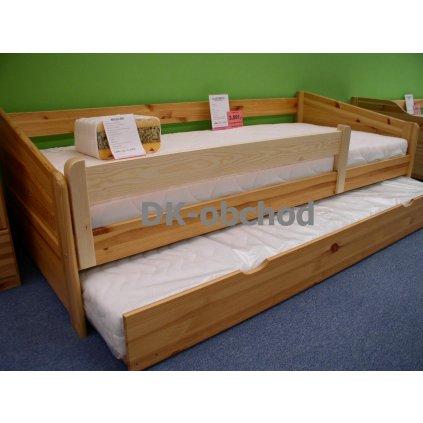 Zábrana na postel 120 borovice na bočnice 2,5cm (Moření úp. Moření úp. / Bílá barva)