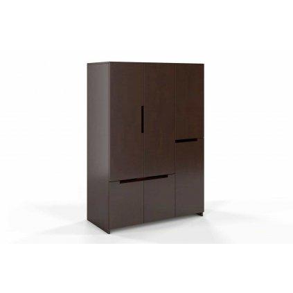 skříň z masivu buk Bergman 3d5spalisander