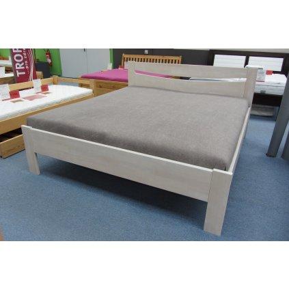 Buková zvýšená manželská postel TEA