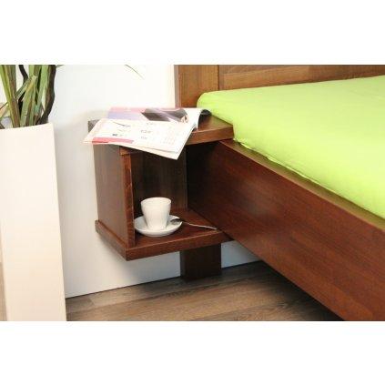 Bukový závěsný noční stolek - SUPRA (Moření HP Antracit)