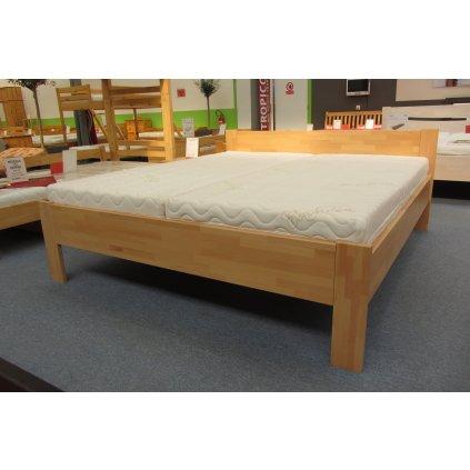 Buková zvýšená manželská postel TINA