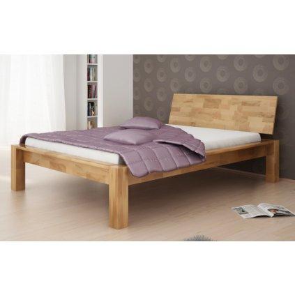 Buková manželská postel Aruba (Laťkový rošt Laťkový rošt / 90x200 cm 2 ks - 16 lamel, Rozměry - později smazat Rozměry / 180x200 cm)
