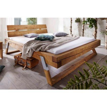 Manželská postel Kasjopea - masiv smrk (Laťkový rošt Laťkový rošt / 90x200 cm 2 ks - 16 lamel, Rozměry - později smazat Rozměry / 180x200 cm)