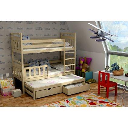 Patrová postel pro tři Kubuš