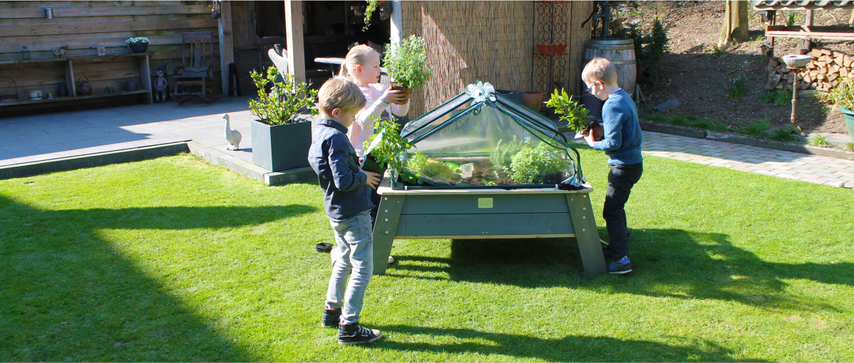 playing-outside-in-a-small-garden-with-exit-toys