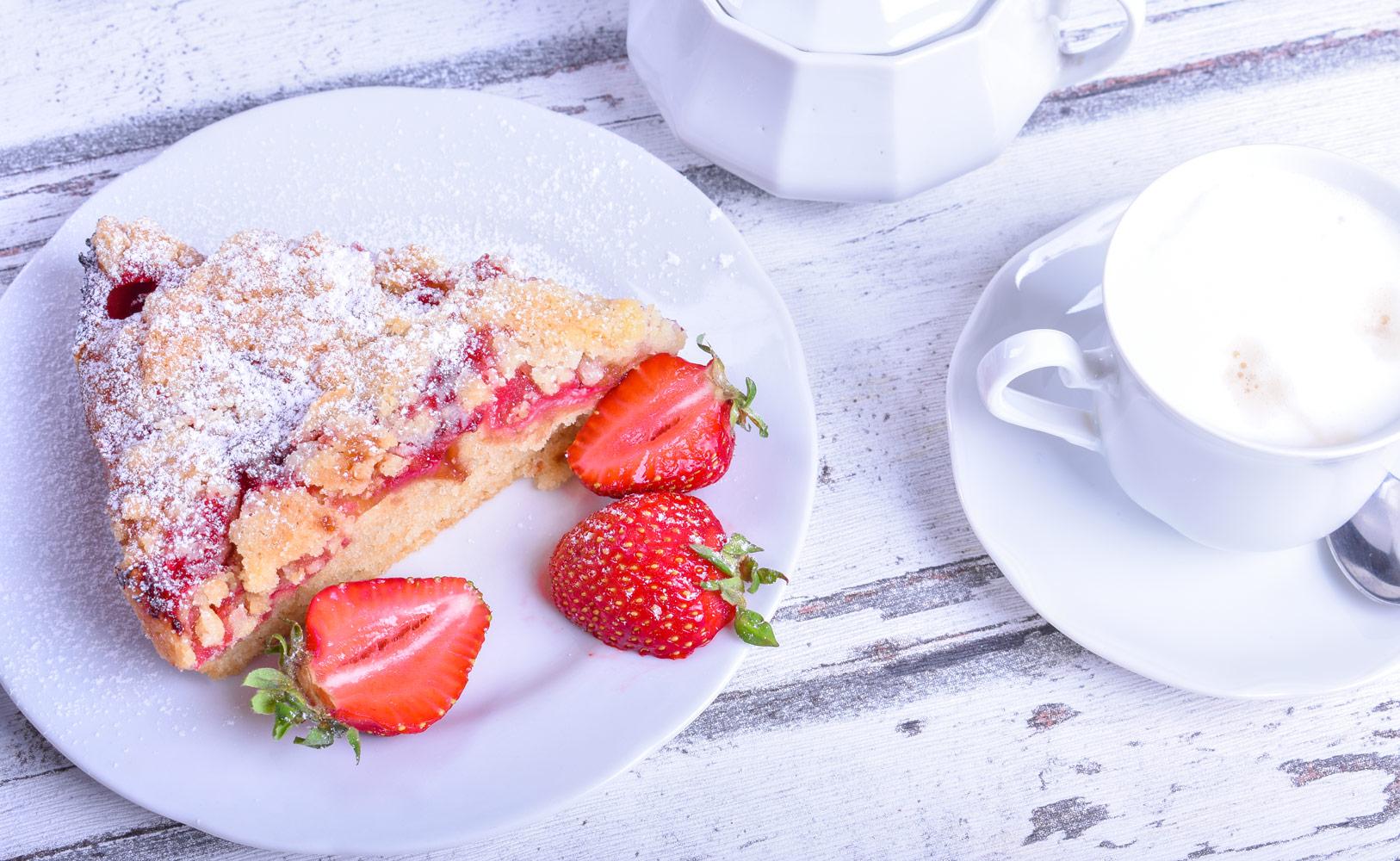 Ovocný koláč s drobeničkou