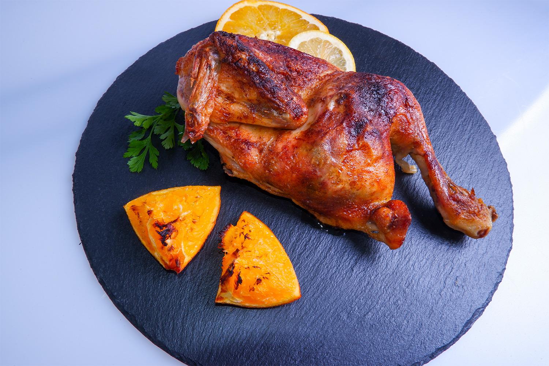 Pečené kura na citrusoch