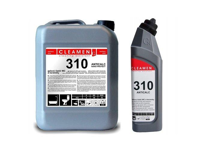 0000683 CLEAMEN 310 gelovy cistic WC a keramiky 5L