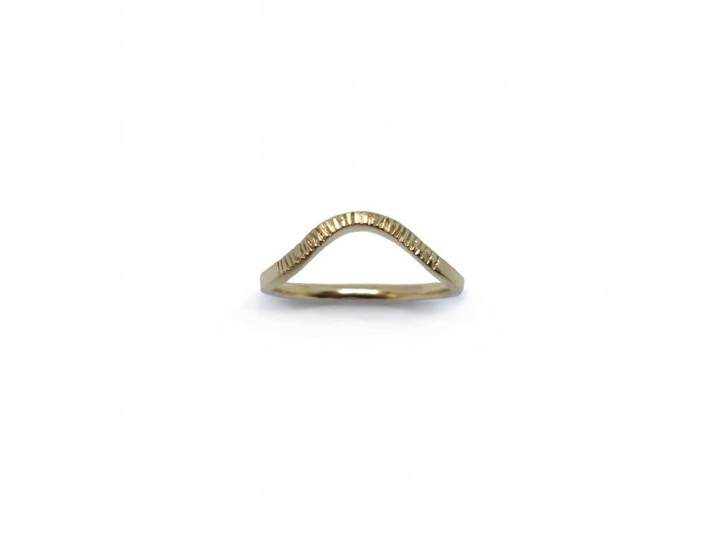 Prsten Aura 003 pozlacený