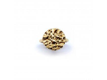 Prsten Aura 002 pozlacený