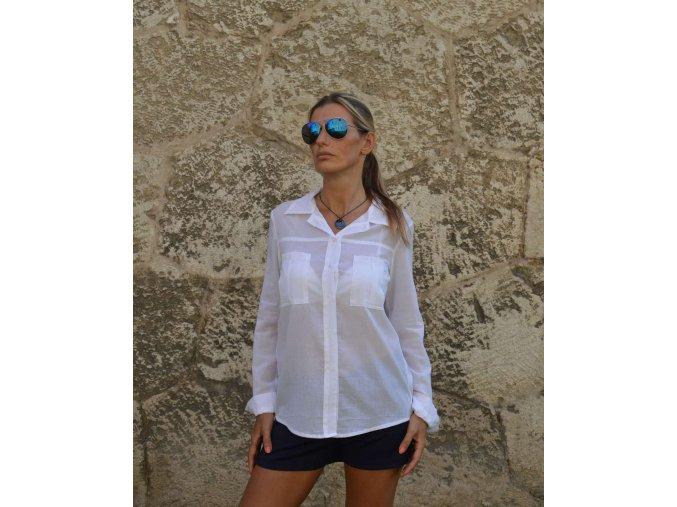 Dámska bavlnená  košeľa  - Nature