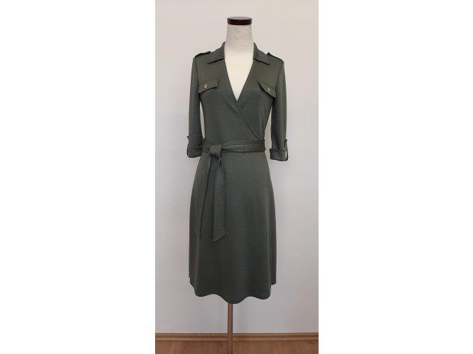 Zavinovacie šaty zelené