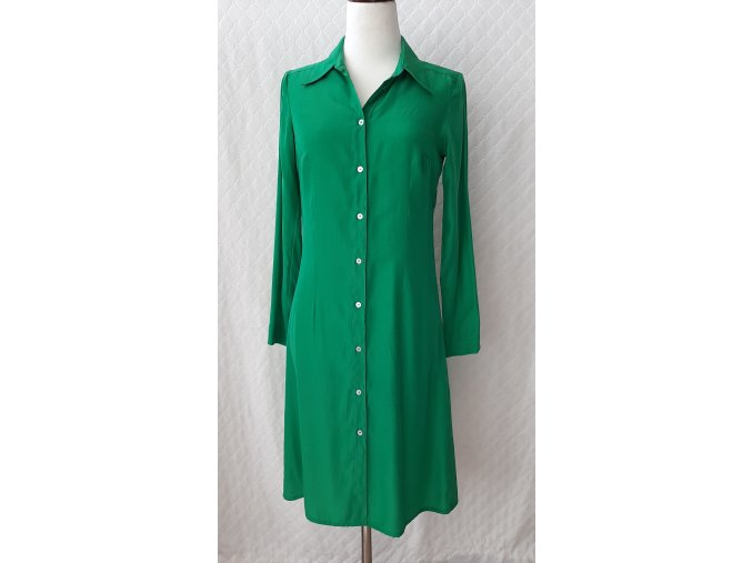 Elegantné zelené dámske šaty