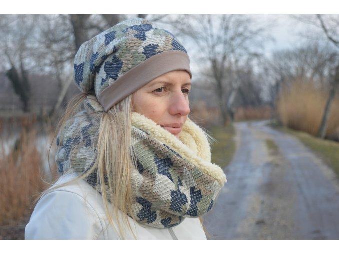 Set Nákrčník Army + UNI zimná čiapka