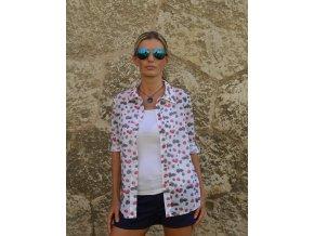 Dámska bavlnená košeľa s motívom malina - Raspberry