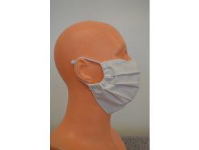 Antibakteriálne ochranné rúško na tvár  s časticami striebra a kovovým pásikom